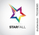 Colorful Star Fall Logo Design...
