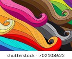 abstraction of colored strands... | Shutterstock .eps vector #702108622