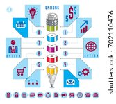 creative infographics  pencil...