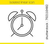 Alarm Clock Linear Icon. Thin...