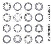line circular badge logo... | Shutterstock .eps vector #702118375