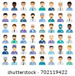 men's medical avatars  team of... | Shutterstock .eps vector #702119422