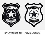 police badge simple monochrome... | Shutterstock .eps vector #702120508