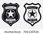 police badge simple monochrome... | Shutterstock .eps vector #702120526