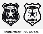 Police Badge Simple Monochrome...