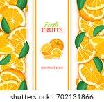 ripe orange vertical seamless... | Shutterstock . vector #702131866