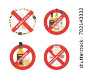 vector flat icons set of... | Shutterstock .eps vector #702143332