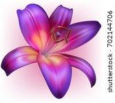 vector photo realistic purple... | Shutterstock .eps vector #702144706