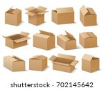 delivery and shipping carton... | Shutterstock .eps vector #702145642