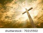 cross against the sky | Shutterstock . vector #70215502