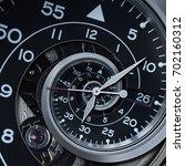classic modern black silver... | Shutterstock . vector #702160312