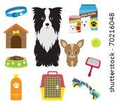 vector illustration of supplies ... | Shutterstock .eps vector #70216048