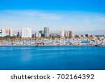 long beach view from the queen... | Shutterstock . vector #702164392