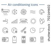 set of air conditioning vector...   Shutterstock . vector #702164602