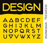 vector geometric font.  | Shutterstock .eps vector #702165232