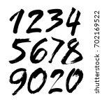 vector set of calligraphic... | Shutterstock .eps vector #702169522