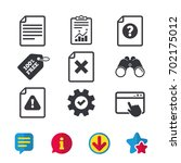 file attention icons. document...