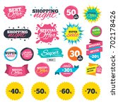 sale shopping banners. sale... | Shutterstock .eps vector #702178426