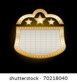 golden theater marquee with...   Shutterstock .eps vector #70218040