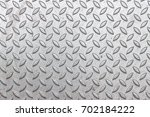 close up checker plate safety... | Shutterstock . vector #702184222