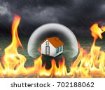 home protection in crystal... | Shutterstock . vector #702188062