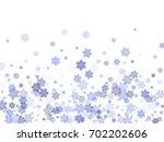 snow flakes falling winter tale ... | Shutterstock .eps vector #702202606