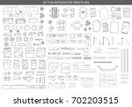 big set of icons for interior... | Shutterstock .eps vector #702203515