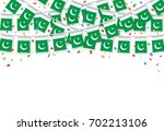 garland flags with white... | Shutterstock .eps vector #702213106