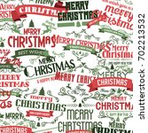 merry christmas and happy new... | Shutterstock .eps vector #702213532