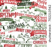 merry christmas and happy new... | Shutterstock .eps vector #702213562