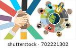 flat design illustration... | Shutterstock .eps vector #702221302
