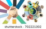 flat design illustration... | Shutterstock .eps vector #702221302
