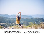 what a view   | Shutterstock . vector #702221548