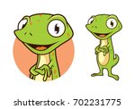 Gecko Character Cartoon Vector