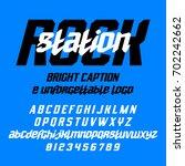 cool italic typeface rock... | Shutterstock .eps vector #702242662