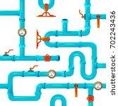 water pipeline system... | Shutterstock .eps vector #702243436