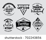 labels set of adventure and... | Shutterstock .eps vector #702243856