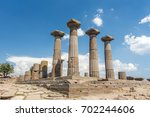 ruins of the temple of athena... | Shutterstock . vector #702244606