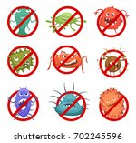 red round signs with different... | Shutterstock .eps vector #702245596