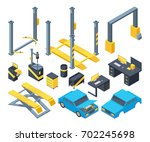 auto service with different... | Shutterstock .eps vector #702245698