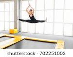 Young Woman Amateur Acrobatic...