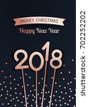 merry christmas and happy new... | Shutterstock .eps vector #702252202