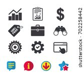 business icons. graph chart and ...