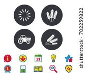 agricultural icons. wheat corn...