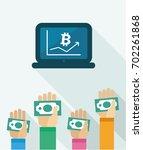 exchange rate  bitcoin  crypto... | Shutterstock .eps vector #702261868