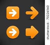 satin smooth orange arrow sign... | Shutterstock .eps vector #70226560