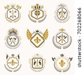 heraldic decorative emblems... | Shutterstock . vector #702268066
