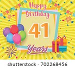 color full 41 st birthday... | Shutterstock .eps vector #702268456