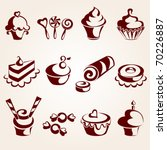 sweet pastry set | Shutterstock .eps vector #70226887