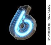 metallic futuristic font with... | Shutterstock . vector #702272302